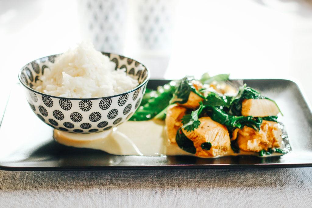 Rezept für ein Zitronengras-Hühnchen-Curry - Fertiges Gericht
