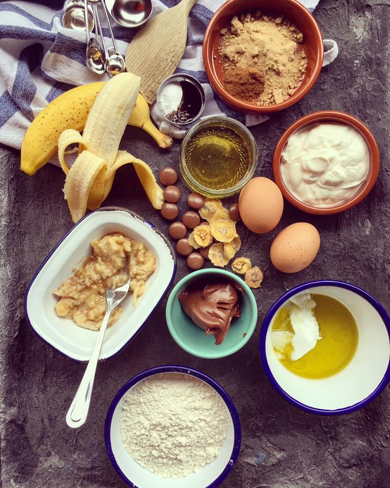 Zutaten Bananen-Nutella-Kuchen