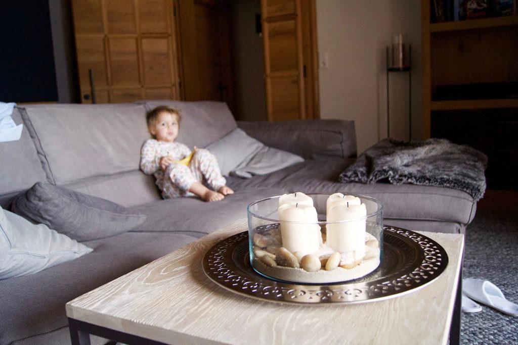 Wohzimmer im Luxus-Chalet - Salon Mama