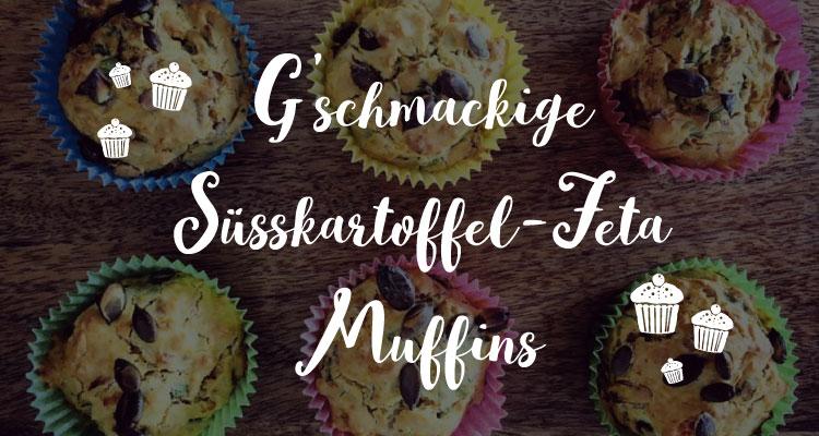 Süßkartoffel Feta Muffins - Salon Mama
