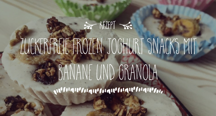 Zuckerfreie Frozen Joghurt Snacks