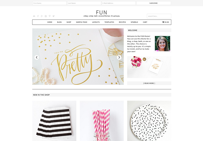 fun blog theme