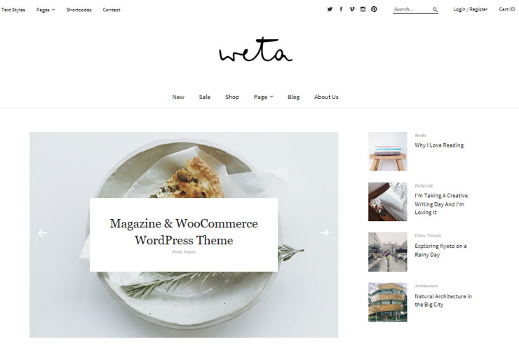 weta blog theme