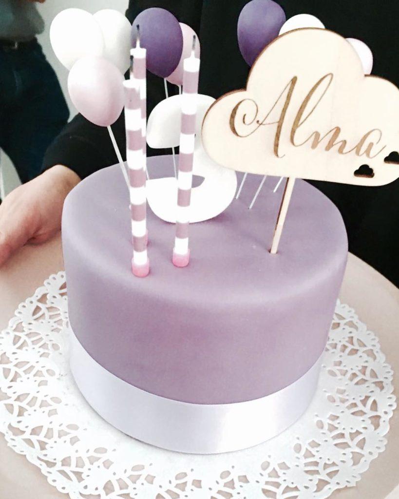 So eine tolle Geburtstagstorte! Und noch dazu in lila undhellip