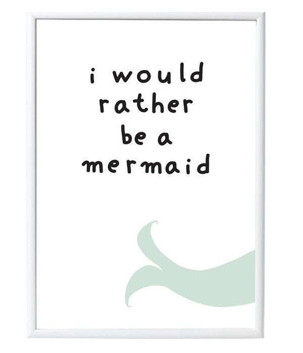 Mermaid Poster von A Little Lovely Company